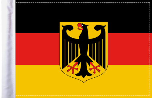 FLG-GERM-CA Germany Coat of Arms Flag 6x9