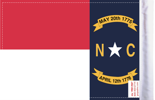 FLG-NC  North Carolina flag 6x9 (BACK)
