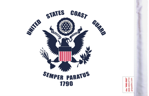 FLG-CGD  U.S. Coast Guard 6x9 flag (BACK)