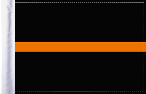 FLG-TOL-EMS   Thin Orange Line EMS 6x9 flag