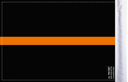 FLG-TOL-EMS   Thin Orange Line EMS 6x9 flag (BACK)