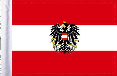 FLG-AUT-C Austria Coat of Arms Flag 6x9