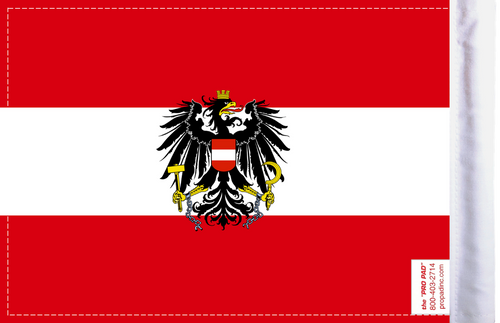 FLG-AUT-C Austria Coat of Arms Flag 6x9 (BACK)