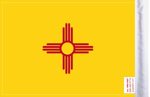 FLG-NM  New Mexico Flag 6x9 (BACK)