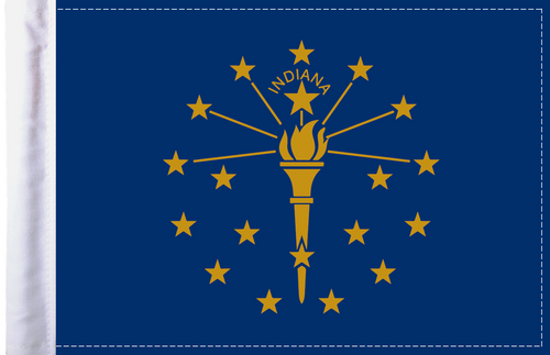 FLG-IN  Indiana Flag 6x9