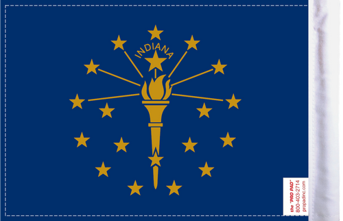 FLG-IN  Indiana Flag 6x9 (BACK)