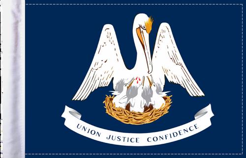 FLG-LA  Louisiana Flag 6x9