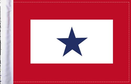 FLG-BS  Blue Star Service 6x9 flag