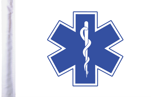 FLG-EMS  Star of Life 6x9 flag