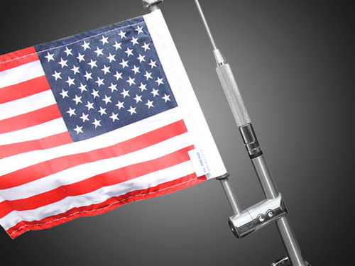 Goldwing antenna mount with 6x9 USA flag
