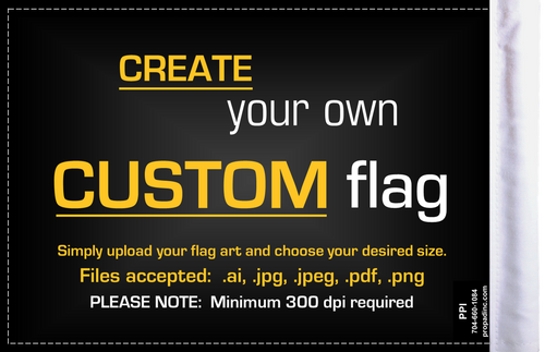 PPI Custom 6x9 Highway Motorcycle Flags (BACK)