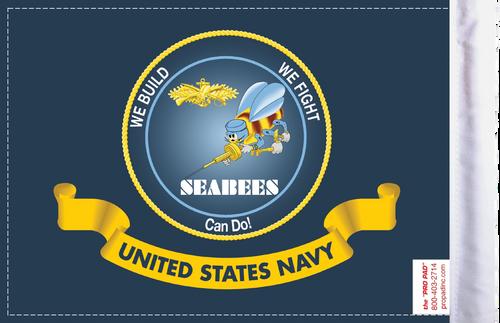 FLG-NAV-SB  Navy Seabees 6x9 flag (BACK)