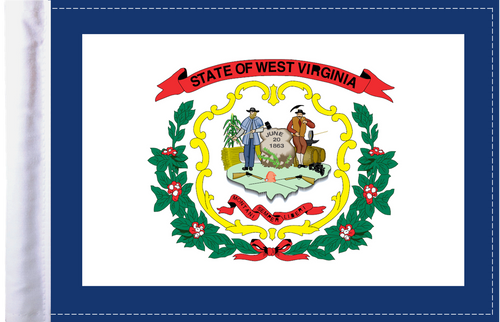 FLG-WV  West Virginia flag 6x9