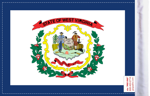 FLG-WV  West Virginia flag 6x9 (BACK)