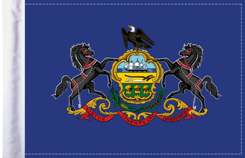FLG-PA  Pennsylvania Flag 6x9