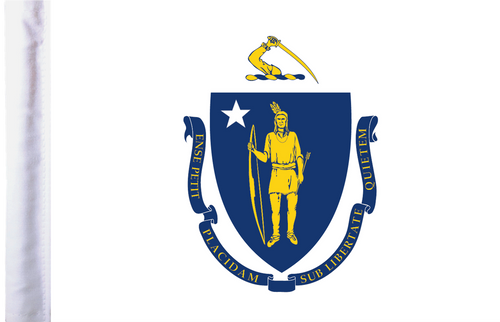 FLG-MA  Massachusetts Flag 6x9