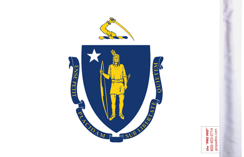 FLG-MA  Massachusetts Flag 6x9 (BACK)