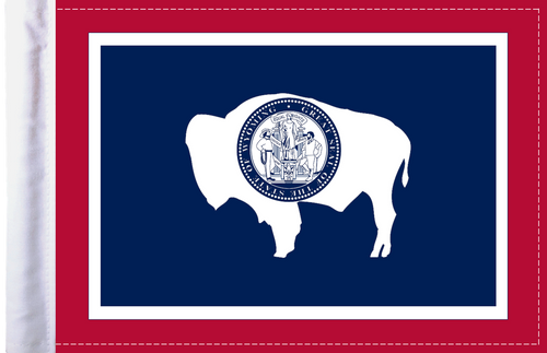 FLG-WY  Wyoming flag 6x9