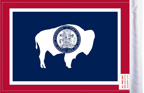 FLG-WY  Wyoming flag 6x9 (BACK)