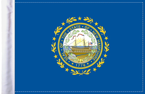 FLG-NH  New Hampshire Flag 6x9