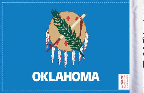 FLG-OK  Oklahoma flag 6x9 (BACK)