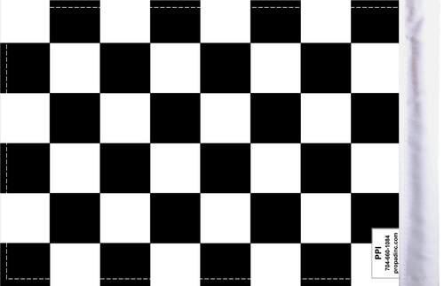 "6""x9"" Highway flag:  Checkered (BACK)"