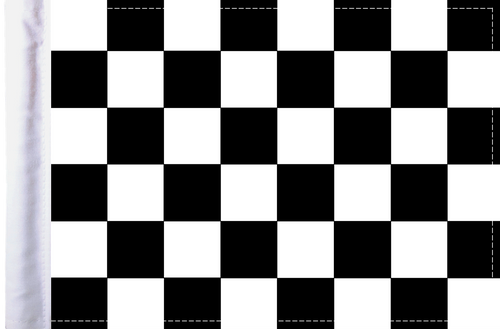 """6""""x9"""" Highway flag:  Checkered"""