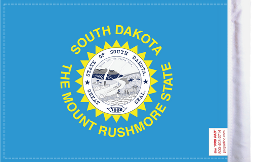 FLG-SD  South Dakota flag 6x9 (BACK)