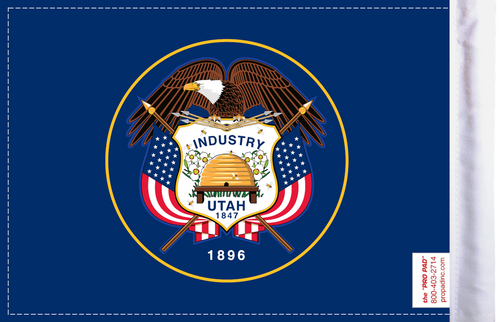 FLG-UT  Utah Flag 6x9 (BACK)