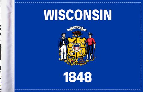 FLG-WI  Wisconsin flag 6x9