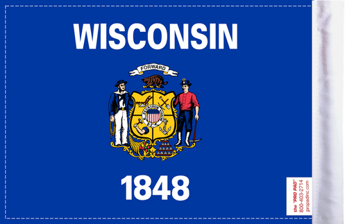 FLG-WI  Wisconsin flag 6x9 (BACK)