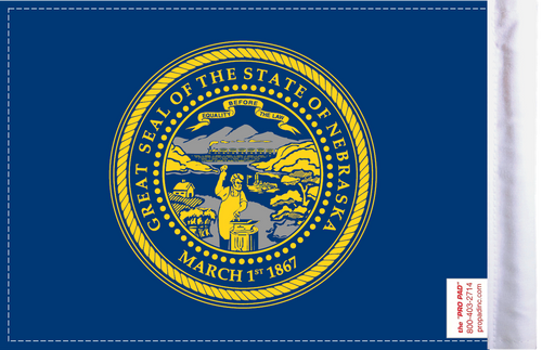 FLG-NE  Nebraska Flag 6x9 (BACK)