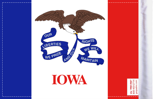 FLG-IA  Iowa Flag 6x9  (BACK)