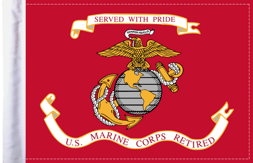 FLG-RETMC  Marine Corps RETIRED 6x9 flag