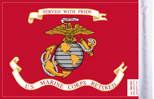FLG-RETMC  Marine Corps RETIRED 6x9 flag (BACK)