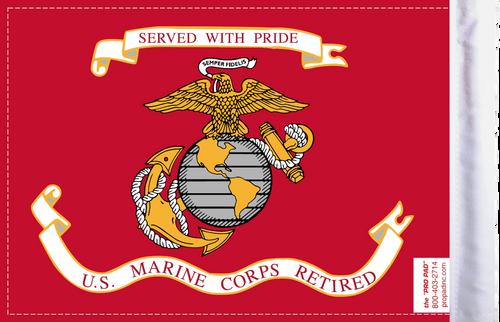 FLG-RETMC  Marine Corps RETIRED 6x9 flag (BACK)