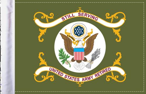 FLG-RTARM  Army RETIRED 6x9 flag