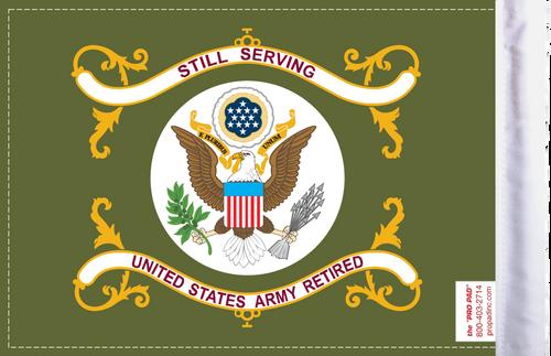 FLG-RTARM  Army RETIRED 6x9 flag (BACK)