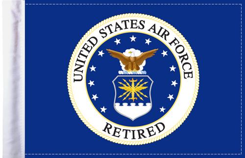 FLG-RETAF Air Force RETIRED 6x9 flag