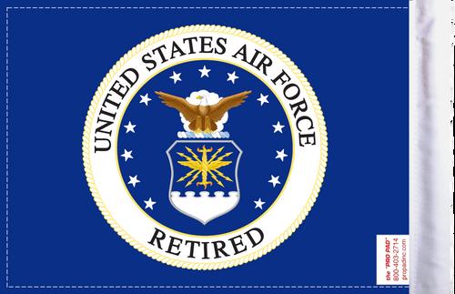 FLG-RETAF Air Force RETIRED 6x9 flag (BACK)