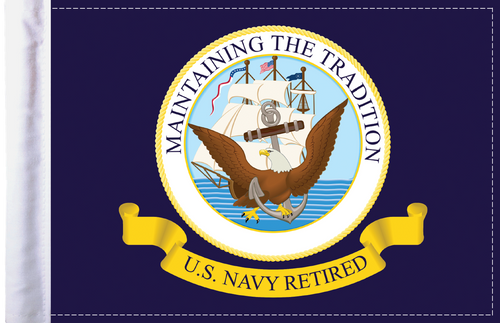 FLG-RTNAV  Navy RETIRED 6x9 flag