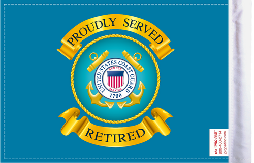 FLG-RTCGD  Coast Guard RETIRED 6x9 flag (BACK)