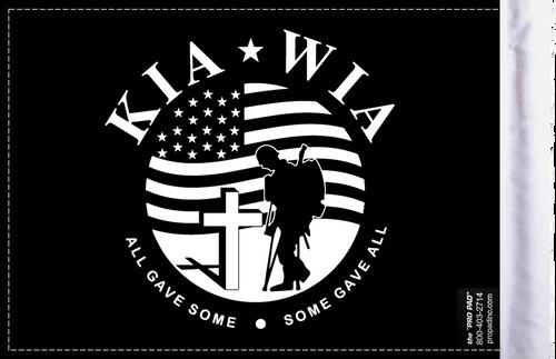FLG-KIA  Killed in Action 6x9 flag (BACK)