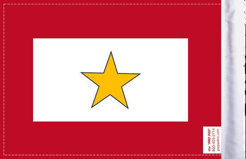 FLG-GS  Gold Star Service 6x9 flag (BACK)