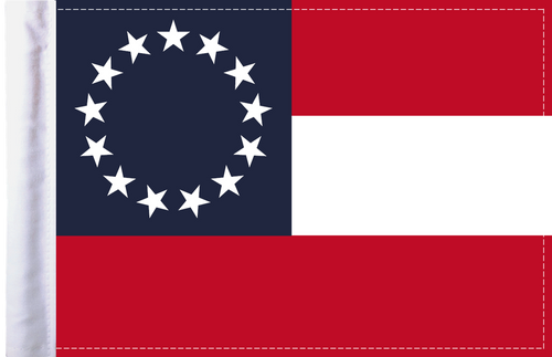 FLG-CSB Confederate Stars and Bars 6x9 flag
