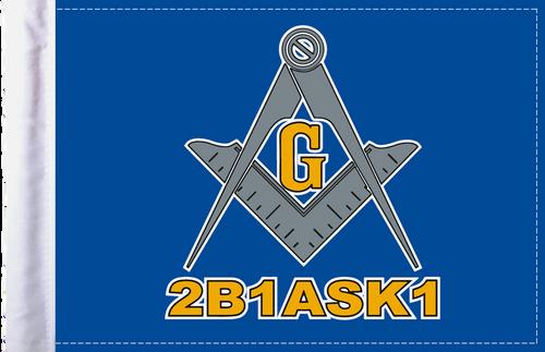 FLG-BLM  Blue Lodge Mason flag 6x9