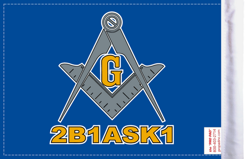 FLG-BLM  Blue Lodge Mason flag 6x9 (BACK)
