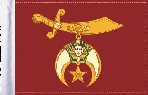 FLG-SHRINE Shriners flag 6x9