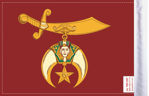 FLG-SHRINE Shriners flag 6x9 (BACK)