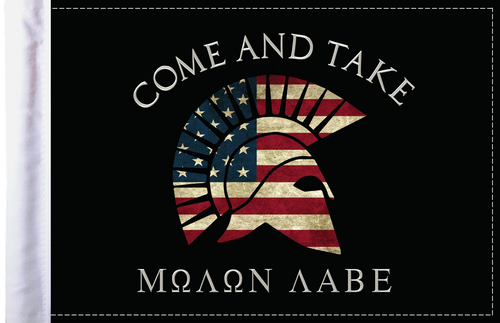 FLG-MNLB Molon Labe Come and Take flag 6x9